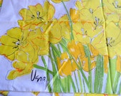 Vintage Pillowcases - Vera Yellow Poppy Flowers - 4 Pillowcases For Use or Repurpose