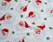1950s Christmas Fabric - Vintage Santa Claus