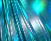 Turquoise Reflective Metallic Spandex