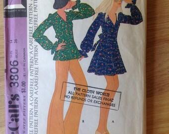McCalls 3806 Dress or Tunic - Size 14