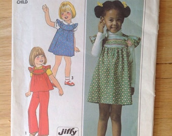 Vintage Simplicity 7904 • girls dress and pants • size 5