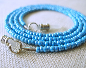 Blue Eyeglass Holder,  Glasses Chain, Eyeglass Lanyard, Eyeware