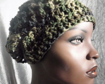 Petite Size Camouflage Convertible Hat