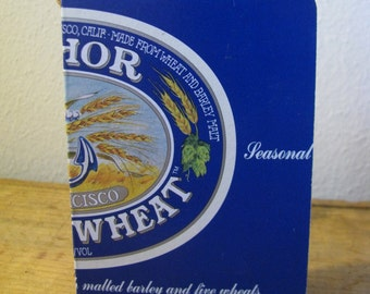Blank Book Recycled Six-Pack Cover-- Anchorsteam Winter Wheat Blue
