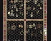 Mosaic wall hanging earring displays. Available via custom order.