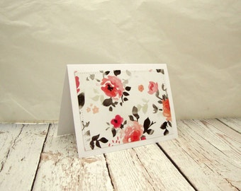 Beautiful Floral Note Cards, Blank Floral Note Cards, Floral Note Card Set, Thank You Card Set, Bridal Shower Thank You Cards,