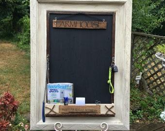 Farmhouse Chalkboard/Wall Organizer