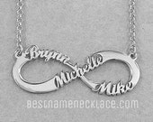 Infinity Necklace Personalized, Custom Infinity Name Necklace, Infinity Name Necklace, Couples Infinity Name Necklace