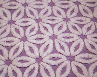 Lavender Hoffman Daisy Vintage Chenille Fabric -  18 X 22 IN