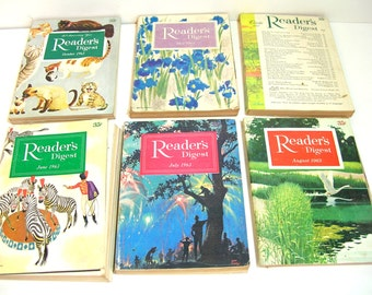 Vintage Readers Digest Magazines, 1962, 1963, 1964 And 1965