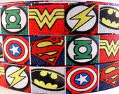 "7/8"" Marvel Super Hero Grosgrain Ribbon 1 Yard"
