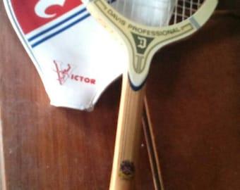 Vintage Tad Davis Tennis Racquet & Cover