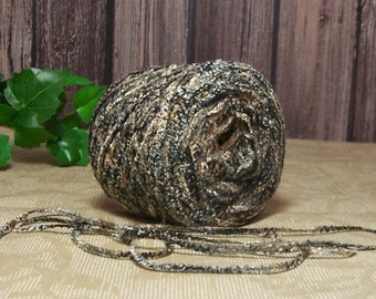 Ashes Chenille Yarn, Lightweight Acrylic Chenille, Black, Gray, Navy & Taupe Yarn, Crochet, Knitting Yarn,  BIN 27