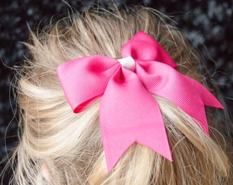 Hair Bow - Traditional Hot Pink Grosgrain Hairbow
