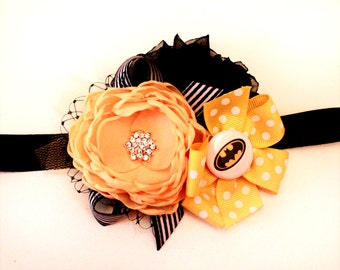Batman/Batgirl Baby headband