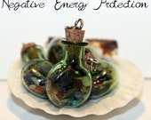 NEGATIVE ENERGY PROTECTION Spell Charm Bottle Pendant