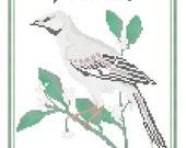 Florida State Bird, Flower and Motto Cross Stitch Pattern PDF