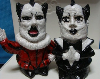 Klaus Nomi  Salt and Pepper Figurine  Shaker Set(Standard size,fullbody style)*Made To  Order*