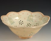 Berry Bowl in Blue and Yellow