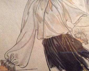 Victorian Blouse Plus Sizes Pioneer Prairie Blouse Civil War Ladies Costume