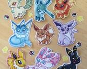 Pokemon eevee evolutions sticker set