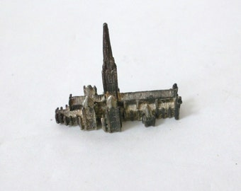Pewter Salisbury Cathedral Figurine.. 1980s