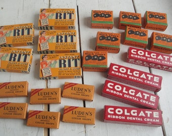 Vintage 1940s RIT Luden's Colgate Box