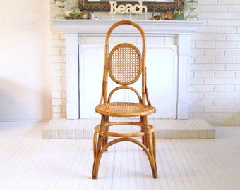Vintage Tall Cane and Bentwood Chair