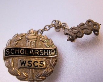 BIGGEST SALE of the Year 1958 WSCS Womens Society Christian Service Scholarship Pin Sterling Silver