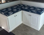 Custom Sewn  Banquette Seat  Bench Cushion with Cording Playroom, Nursery, Kitchen Pad, Chair Pad