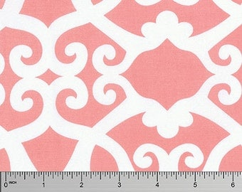 Clover in Coral ...  Meadow by Dena Designs ... Your choice of cut .. Coral colorway