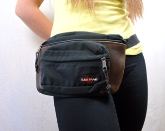 Vintage Eastpak Fanny Hip Pack - Leather