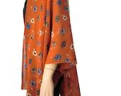 Boho Kimono cardigan - Bric red floral chiffon kimono--Ruana-Many colors