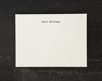 merry xmas. letterpress printed. flat card. #059