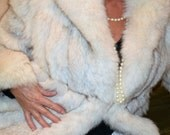 Reserved for Kristi On SALE Now! Luxurious Natural Blue Fox Fur Coat Jacket SAGA FOX Label by Wilson Leather