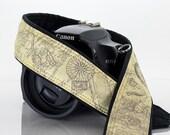 Map Camera Strap, dSLR, Old World Map, Photographer Gift, SLR, Vintage Map, Canon camera strap, Nikon camera strap, Men, Women,  257