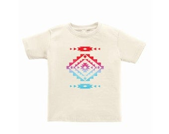 Cool Native American Aztec Southwest Indian Style Print Toddler Kids Children's Tee Shirt