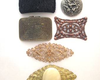 Vintage Jewelry Lot Shoe Clips Jewelry Craft Supply
