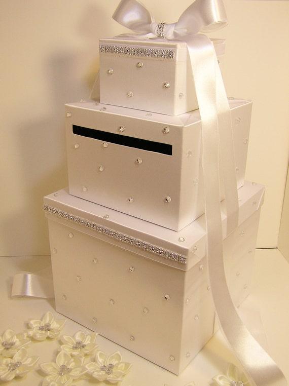 Large Wedding Gift Card Box : Wedding Card Box LARGE Size 3 tier White Gift Card Box Money Box ...
