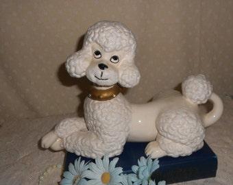 Poodle Statue Large White Atlantic Mold