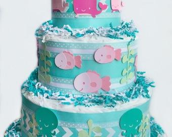The Under The Sea Diaper Cake