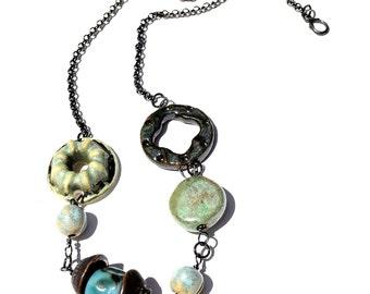 Artisan Ceramic Bead Necklace
