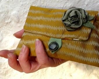 Gold Flower purse