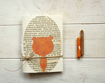 little bear pocket journal blank notebook -  hand  binding travel Journal - old book