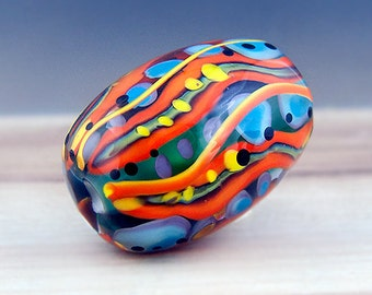 Boh*Hippie - Modern Art Glass - 1 free shaped focal bead by Michou