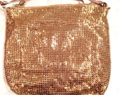 Vintage bronze mesh Whiting & Davis purse evening bag