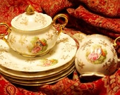 Matching Plates, Creamer & Sugar Bowl