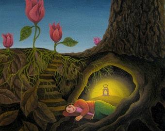 El Sueño/The Dream (Original painting SOLD) - print available