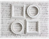 Shabby Chic Resin Frames for Scrapbooking, Cardmaking, Altered Art, Mixed Media, Mini Albums, Plain