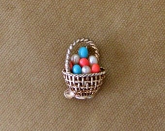 Vintage Marcel Boucher Easter Egg BAsket Brooch Numbered 753P